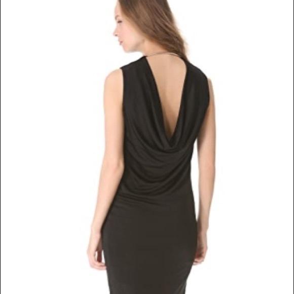 T by Alexander Wang drape back dress